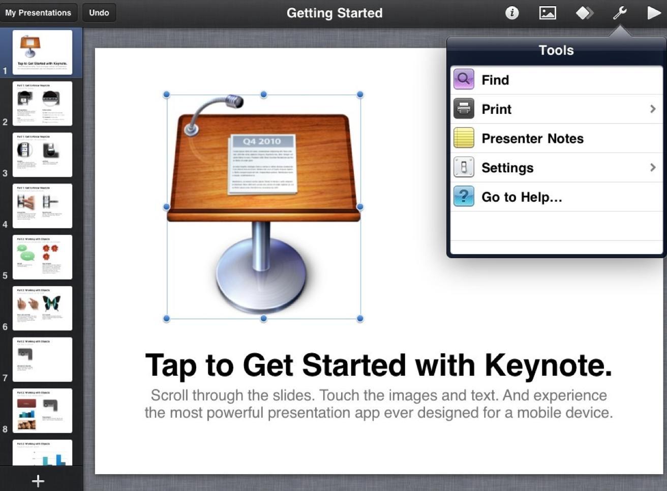 Как на макбуке сделать слайд шоу
